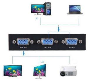 سوئیچ 2 به 1 مانیتور VGA وی جی ای