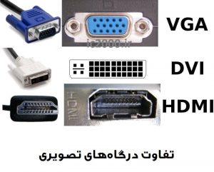 تفاوت پورت HDMI با DVI و VGA
