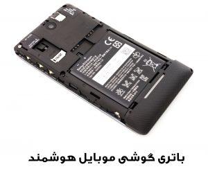 یک گوشی موبایل و باتری قابل شارژ